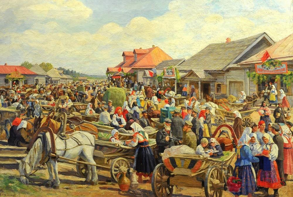 картинки базара на руси помощью рисунок