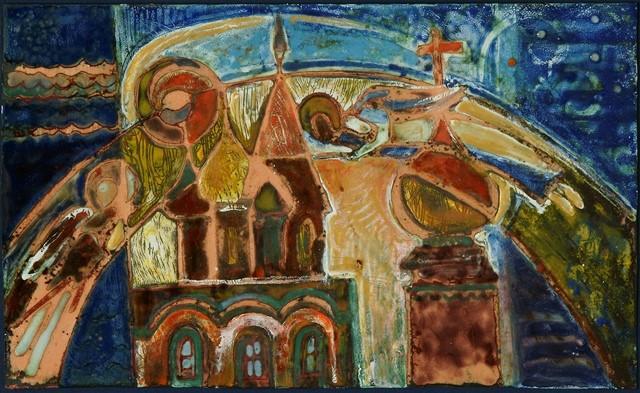 Взале наМаксимова вЯрославле выставлены картины искульптурные композици ...