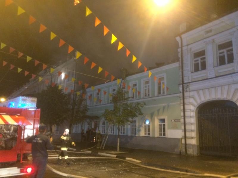 Вцентре Ярославля горел дом