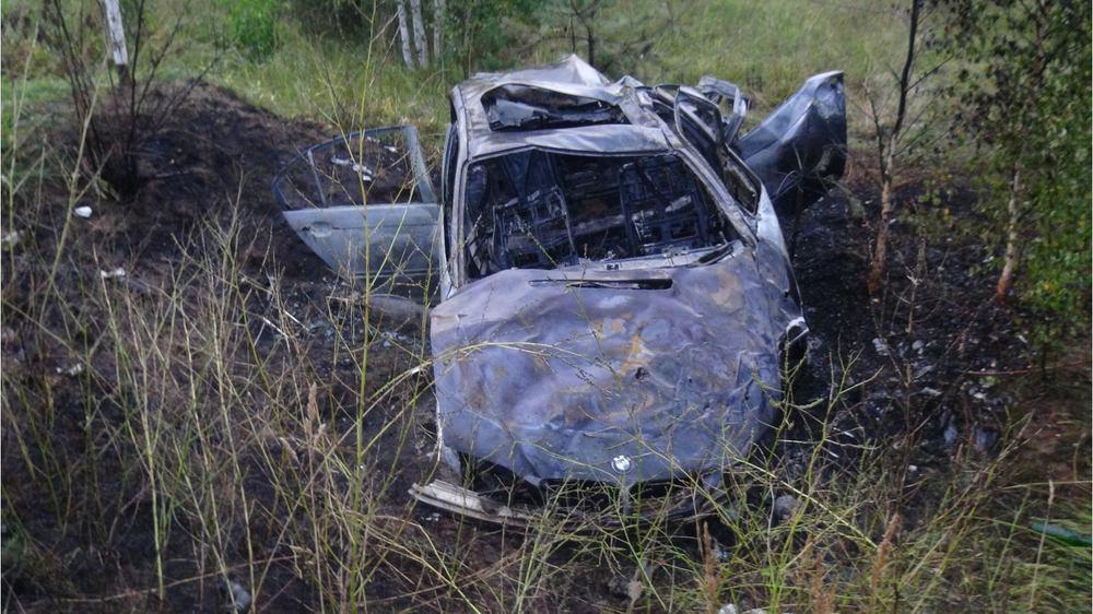 ВРыбинском районе БМВ вылетел вкювет: двое погибших