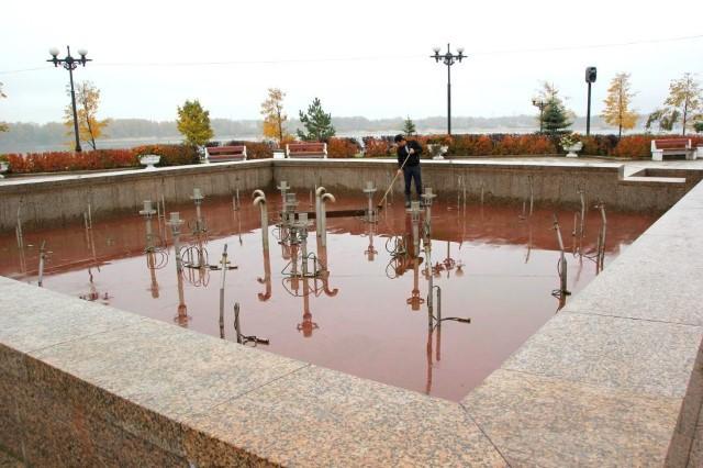 Затри недели ярославские фонтаны подготовят кзиме