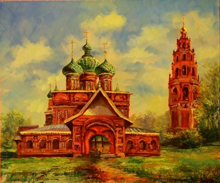 храмы в картинах: