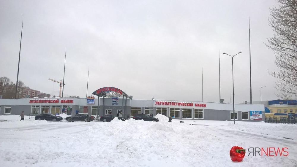 ВЯрославле рухнул надувной купол легкоатлетического манежа