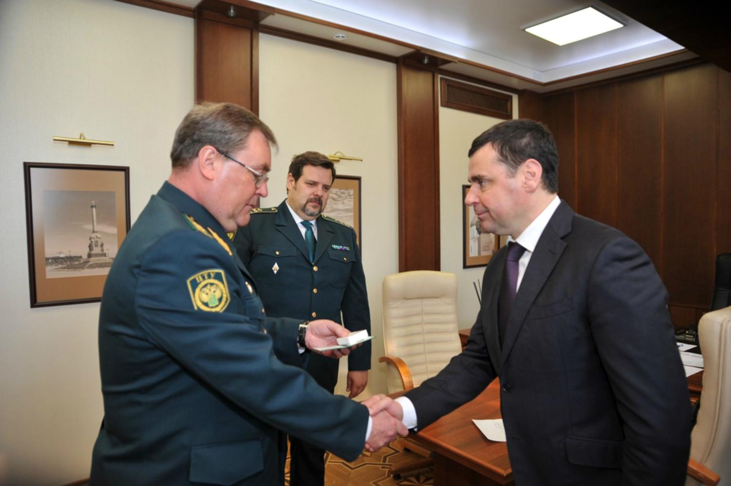 Руководитель региона провел рабочую встречу сновым начальником Ярославской таможни