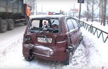 В Ярославле в аварию попала беременная женщина